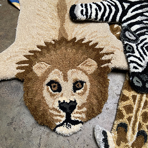 MOODY LION RUG SMALL