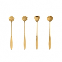 SET GOLD BIG SPOONS (4)