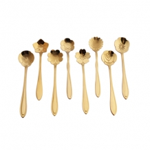 SET GOLD SMALL SPOONS (4)